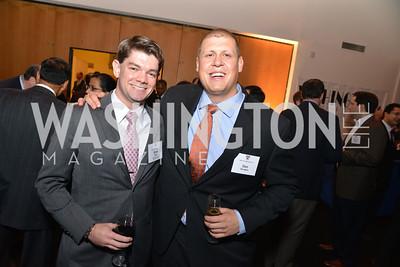 Brad Reid, Dan Sirotkin,  Harvard Business School hosts a reception at the French Embassy.  October 23, 2013.  Photo by Ben Droz.