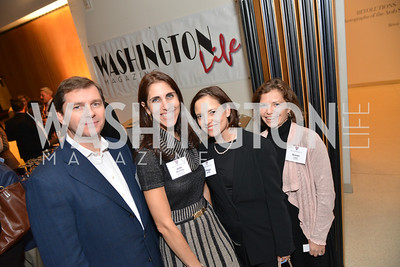 Imre Eszenyi, Julie Wolinsky, Peggy Brady, Susan Laws, Harvard Business School hosts a reception at the French Embassy.  October 23, 2013.  Photo by Ben Droz.