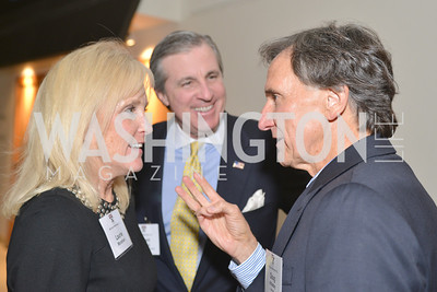Laurie Monahan, Robert Monahan, Doug Holladay,  Harvard Business School hosts a reception at the French Embassy.  October 23, 2013.  Photo by Ben Droz.