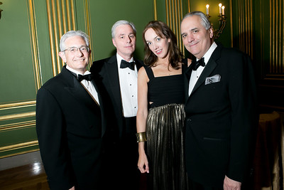 Russell Pommer, William Flynn, Amy O'Donnell, Vincent Roberti. Photo by Alfredo Flores. Heart's Delight Vintner's Dinner. Andrew W. Mellon Auditorium. May 3, 2013