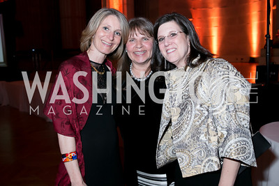Veronique Bonnie Laplane, Sandy Helm, Teresa Ervin. Photo by Alfredo Flores. Heart's Delight Vintner's Dinner. Andrew W. Mellon Auditorium. May 3, 2013