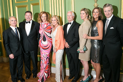 Nick Calio, Rep. Bill Shuster, Sandra DePoy, Annie Keech, Gil Keech, Valerie Nelson, Shelley Rubino, Marty DePoy. Photo by Alfredo Flores. Heart's Delight Vintner's Dinner. Andrew W. Mellon Auditorium. May 3, 2013