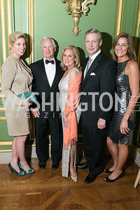 Valerie Nelson, Gil Keech, Annie Keech, Marty DePoy, Shelley Rubino. Photo by Alfredo Flores. Heart's Delight Vintner's Dinner. Andrew W. Mellon Auditorium. May 3, 2013