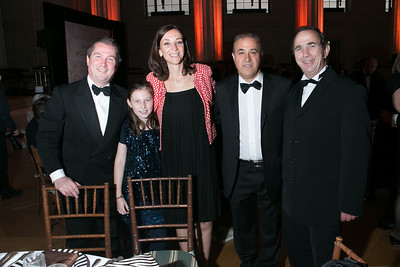 Jamie Ritchie, Ella Ritchie, Emmanuelle Ritchie, Bijan Jabbari, Bernard Burtschy. Photo by Alfredo Flores. Heart's Delight Vintner's Dinner. Andrew W. Mellon Auditorium. May 3, 2013