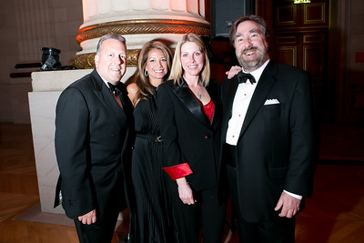 John Oswald, Mona Oswald, Julie Bryant, Kevin Brandt. Photo by Alfredo Flores. Heart's Delight Vintner's Dinner. Andrew W. Mellon Auditorium. May 3, 2013