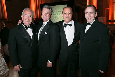 Alfred Tesseron, J.D. Murphy, Bijan Jabbari, Bernard Burtschy. Photo by Alfredo Flores. Heart's Delight Vintner's Dinner. Andrew W. Mellon Auditorium. May 3, 2013