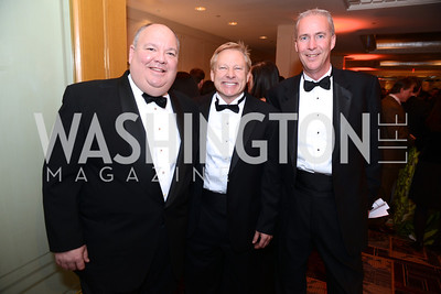 Andrew Blair, Bill Chick, Joel Birner, Heroes Curing Childhood Cancer Gala, at the Four Seasons.  Saturday, February 23, 2013. Photo by Ben Droz.