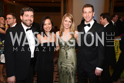 Dr. Joel Larsen, Diem Larsen, Molly Pomeroy, Steven Reinstein,  Heroes Curing Childhood Cancer Gala, at the Four Seasons.  Saturday, February 23, 2013. Photo by Ben Droz.