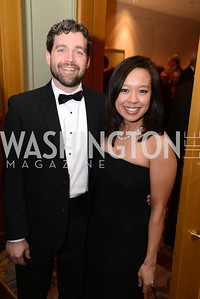 Dr. Joel Larsen, Diem Larsen,  Heroes Curing Childhood Cancer Gala, at the Four Seasons.  Saturday, February 23, 2013. Photo by Ben Droz.