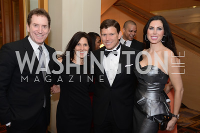 Allen Goldberg, Laurie Strongin, Bret Baier, Amy Baier, Heroes Curing Childhood Cancer Gala, at the Four Seasons.  Saturday, February 23, 2013. Photo by Ben Droz.