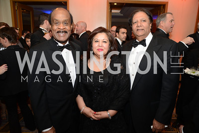 Ike Leggett, Shaista Mahmood, Rafat Mahmood,  Heroes Curing Childhood Cancer Gala, at the Four Seasons.  Saturday, February 23, 2013. Photo by Ben Droz.