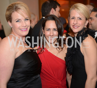 Eileen Weller, Suzette O'Connor, Rebecca Shaffer,  Heroes Curing Childhood Cancer Gala, at the Four Seasons.  Saturday, February 23, 2013. Photo by Ben Droz.