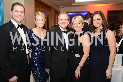 Tim Frend, Jessi Frend, Michael Williams, Kathie Williams, Ally Williams, Heroes Curing Childhood Cancer Gala, at the Four Seasons.  Saturday, February 23, 2013. Photo by Ben Droz.