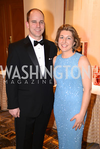 Chris King, Caroline King,  Heroes Curing Childhood Cancer Gala, at the Four Seasons.  Saturday, February 23, 2013. Photo by Ben Droz.