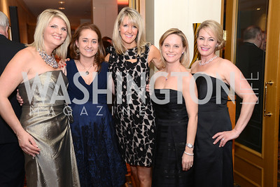 Alison Morrison, Jennie Cullen, Julie Bowen, Mimi Mclearn, Eileen Weller,  Heroes Curing Childhood Cancer Gala, at the Four Seasons.  Saturday, February 23, 2013. Photo by Ben Droz.