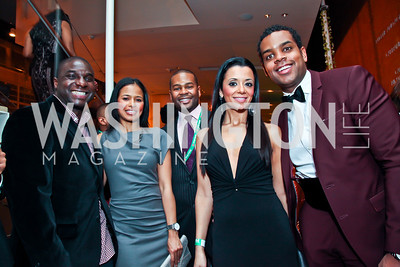 Barry Downs, Kimberly Brown, Alix DeJean, Margo Trak, John Burns. Photo by Tony Powell. Hip Hop Inaugural Ball. Harman Center. January 20, 2013