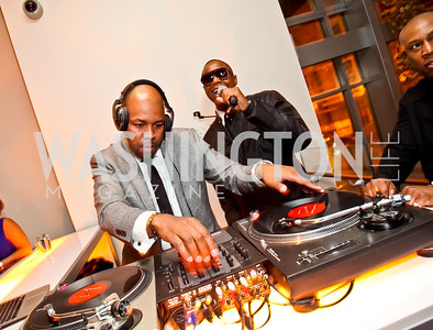 DJ Nice, Doug E. Fresh. Photo by Tony Powell. Hip Hop Inaugural Ball. Harman Center. January 20, 2013