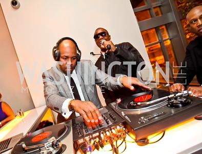 DJ Nice, Doug E. Fresh. Photo by Tony Powell. Hip Hop Inaugural Ball. Harman Center. January 20, 2013