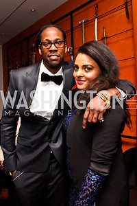2 Chainz, Marcia Ambrosius. Photo by Tony Powell. Hip Hop Inaugural Ball. Harman Center. January 20, 2013