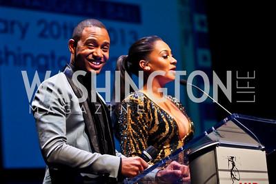 Hosts Terrence J, La La Anthony. Photo by Tony Powell. Hip Hop Inaugural Ball. Harman Center. January 20, 2013