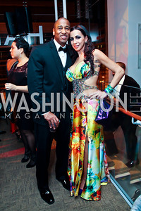 Mark and Kei Harris. Photo by Tony Powell. Hip Hop Inaugural Ball. Harman Center. January 20, 2013