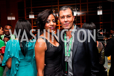Crystal Thomas, Julian Epstein. Photo by Tony Powell. Hip Hop Inaugural Ball. Harman Center. January 20, 2013