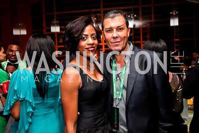 Crystal Thomas, Julian Epstein. Photo by Tony Powell. Hip Hop Inaugural Ball. Harman Center. January 20, 2013