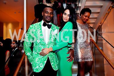 Tyson Beckford, Shanina Shaik. Photo by Tony Powell. Hip Hop Inaugural Ball. Harman Center. January 20, 2013