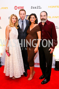 Homeland Cast Claire Danes, Damian Lewis, Morena Baccarin, Mandy Patinkin. Photo by Tony Powell. Homeland Season 3 Screening. Corcoran Gallery. September 9, 2013