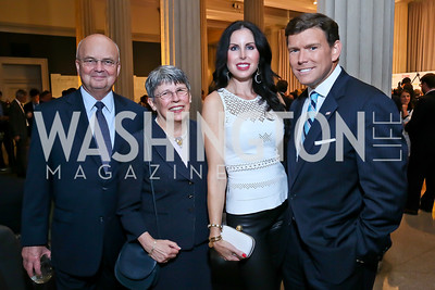 Former NSA and CIA director Michael Hayden and Jeanine Carrier, Amy and Bret Baier. Photo by Tony Powell. Homeland Season 3 Screening. Corcoran Gallery. September 9, 2013
