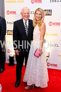 Bob Schieffer, Claire Danes. Photo by Tony Powell. Homeland Season 3 Screening. Corcoran Gallery. September 9, 2013