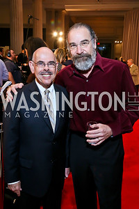 Rep. Henry Waxman, Mandy Patinkin. Photo by Tony Powell. Homeland Season 3 Screening. Corcoran Gallery. September 9, 2013
