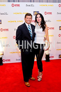 Fox NEws' Bret Baier and Amy Baier. Photo by Tony Powell. Homeland Season 3 Screening. Corcoran Gallery. September 9, 2013