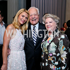 Claire Danes, Bob and Patricia Schieffer, Photo by Tony Powell. Homeland Season 3 Screening. Corcoran Gallery. September 9, 2013
