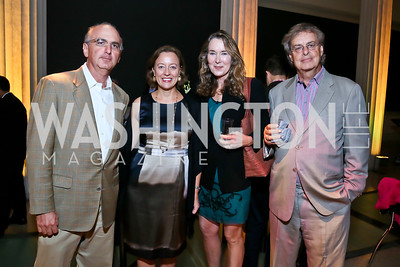 Mike Cantor, Jenny Springer, Leslie and Andrew Cockburn. Photo by Tony Powell. Homeland Season 3 Screening. Corcoran Gallery. September 9, 2013