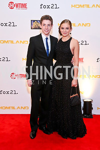 Jackson Pace, Morgan Saylor. Photo by Tony Powell. Homeland Season 3 Screening. Corcoran Gallery. September 9, 2013
