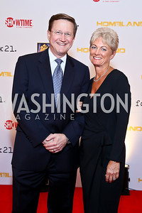 CBS News Homeland Security Correspondent Bob Orr and Susie Orr. Photo by Tony Powell. Homeland Season 3 Screening. Corcoran Gallery. September 9, 2013