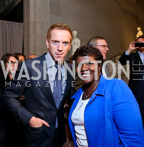 Damian Lewis, Gwen Ifill. Photo by Tony Powell. Homeland Season 3 Screening. Corcoran Gallery. September 9, 2013