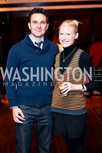 Kip Wainscott, Amy Dudley. Photo by Tony Powell. Huffington Post Inaugural Parade Watch Celebration. Old Ebbitt Grill. January 21, 2013