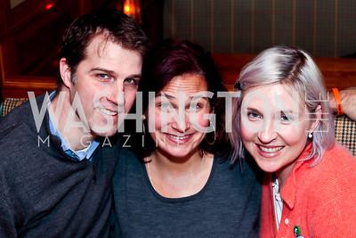 John Neffinger, Ilyse Hogue, Kate Damon. Photo by Tony Powell. Huffington Post Inaugural Parade Watch Celebration. Old Ebbitt Grill. January 21, 2013
