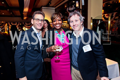 Jon Cowan, Brenda Bethea, Sean Gibbons. Photo by Tony Powell. Huffington Post Inaugural Parade Watch Celebration. Old Ebbitt Grill. January 21, 2013