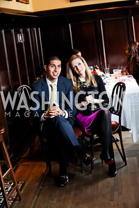 Daniel Koh, Amy Sennett. Photo by Tony Powell. Huffington Post Inaugural Parade Watch Celebration. Old Ebbitt Grill. January 21, 2013