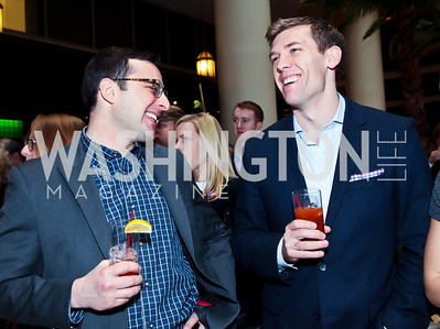Louis Pappas, Will Nevius. Photo by Tony Powell. Huffington Post Inaugural Parade Watch Celebration. Old Ebbitt Grill. January 21, 2013