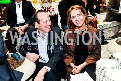Jim Kessler, Jane Leuders. Photo by Tony Powell. Huffington Post Inaugural Parade Watch Celebration. Old Ebbitt Grill. January 21, 2013