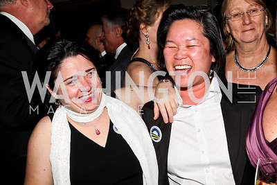 "Heather Holdrige, Ana Ma. Photo by Tony Powell. HRC Inaugural Ball ""Out for Equality."" Mayflower Hotel. January 21, 2013"