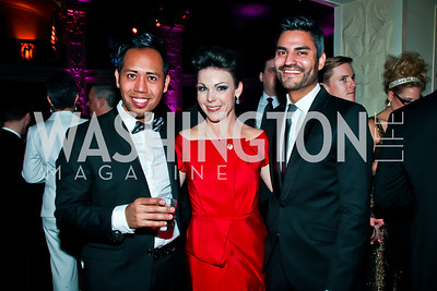"Justin Unga, Lindsey Buchanan, Carlos Marquez. Photo by Tony Powell. HRC Inaugural Ball ""Out for Equality."" Mayflower Hotel. January 21, 2013"
