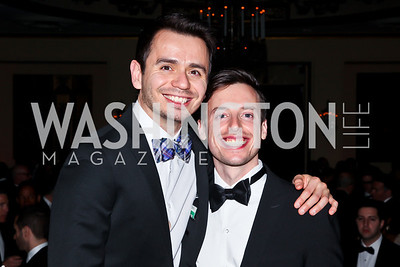 "Raul Chavez, Gideon Bresler. Photo by Tony Powell. HRC Inaugural Ball ""Out for Equality."" Mayflower Hotel. January 21, 2013"