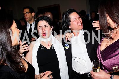 """Heather Holdrige, Ana Ma. Photo by Tony Powell. HRC Inaugural Ball """"Out for Equality."""" Mayflower Hotel. January 21, 2013"""