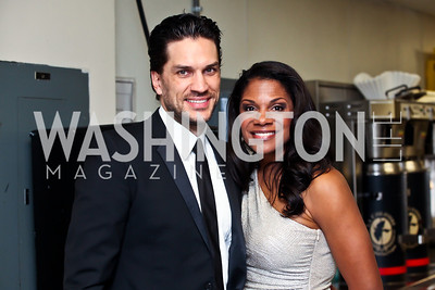 "Will Swenson, Audra McDonald. Photo by Tony Powell. HRC Inaugural Ball ""Out for Equality."" Mayflower Hotel. January 21, 2013"