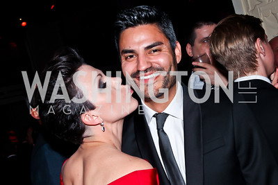 "Lindsey Buchanan, Carlos Marquez. Photo by Tony Powell. HRC Inaugural Ball ""Out for Equality."" Mayflower Hotel. January 21, 2013"